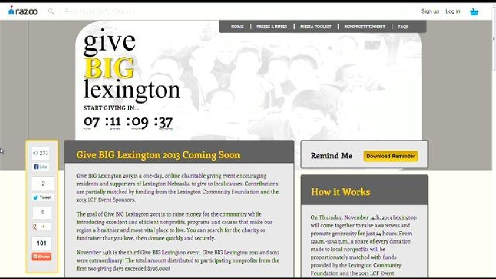 Give Big Lexington Event Encourages Day of Giving | KHGI