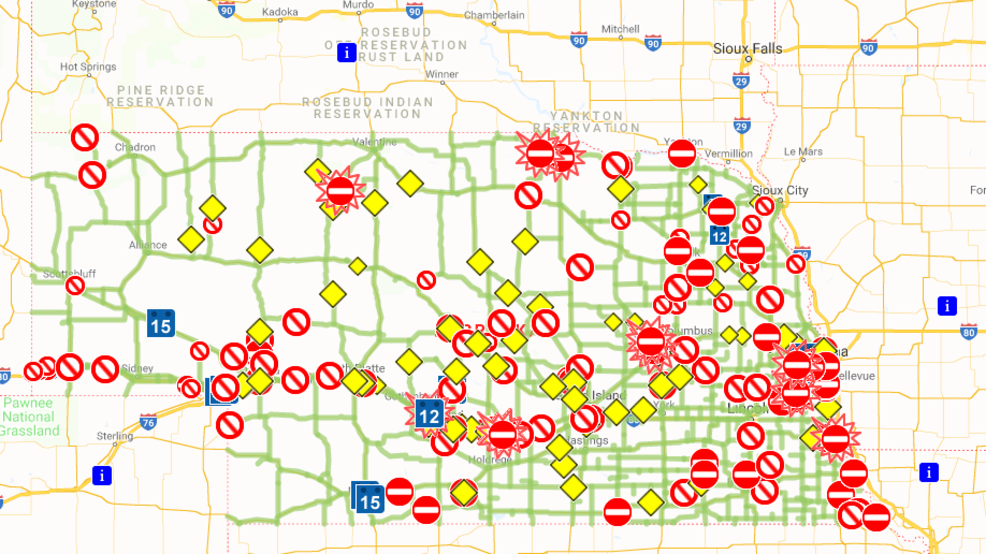 Nebraska 511 maps out road conditions for residents | KHGI